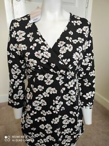 **Open To Offers*** Dorothy Perkins Size 14 Maternity Black White Floral Top