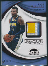 2017-18 Paul Millsap Panini Immaculate PATCH AUTO (3/25) NUGGETS SP