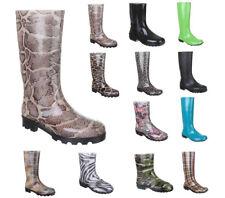 Damen Mädchen Gummistiefel Freizeit Regenstiefel Slipper Boots Gummistiefelette