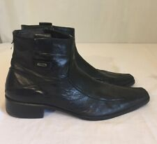 Mens Aldo Black Leather Ankle Boots Size 45 US Size 12