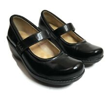 Softwalk Womens Size 8N Black Mary Jane Leather Shoes Narrow