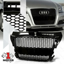 Glossy Black{HEX HONEYCOMB MESH}ABS Front Bumper Grille for 08-11 Audi A3 Typ-8