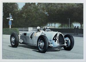 Ray Goldsbrough original painting Bernd Rosemeyer SWISS grand prix victory 1936