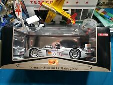 Maisto 1:18 Scale Infineon Audi R8 Le Mans 2002 HARD TO FIND BEAUTIFUL NICE CAR