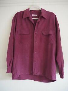 Equipment Silk Shirt S Dark Pink Oversized