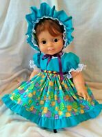 "SSO DOLL CLOTHES TURQUOISE DRESS+ for 23""-25"" BABY CRISSY CARRIE KITTEN ROSEBUD"