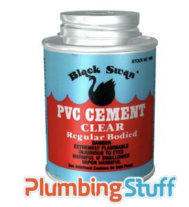 Black Swan PVC Cement - Solvent Weld Glue 118ml / 236ml / 472ml