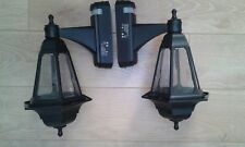 2 black wall coach lanterns PIR