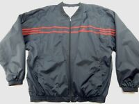 Adidas Mens Lined Windbreaker Zip Up Jacket Coat Blue Red Stripes Size XL