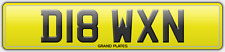 D18 WXN NUMBER PLATE GREAT DAWN REG ASSIGNED FOR YOU NO FEES DAWNS NAME REG