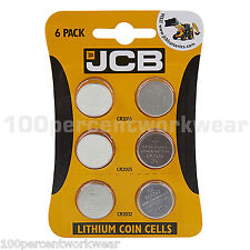 1x Card of 6 JCB Lithium Coin Cell Batteries Assorted Sizes CR2016 CR2025 CR2032