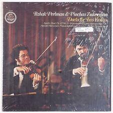 PERLMAN w/ ZUKERMAN: Duets for Two Violin SHRINK Vinyl LP Angel NEAR MINT