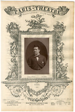 Lemercier, Paris-Théâtre, Pierre-Émile Engel (1847-1927), ténor Vintage Albumen