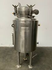 Lee 150 Liter Stainless Steel Jacketed 45 Psi Reactor With Sight Glass Amp Valves