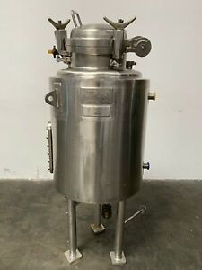LEE 150 Liter Stainless Steel Jacketed 45 PSI Reactor w/ Sight Glass & Valves