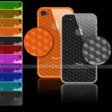 3D EFFECT HEX STYLE PATERN TPU GEL SILICONE CASE COVER FOR IPHONE 4S 4 4G