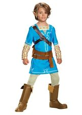 Disguise Link Breath The Wild Deluxe Costume Blue Small 4-6