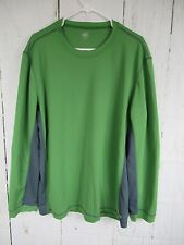 Mens ALO XXL Sports Shirt Cool Fit Size XXL Color Green Gray Long Sleeve A4