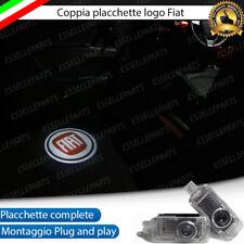 2 PLACCHETTE LED LOGO FIAT ROSSO LUCI DI CORTESIA PER FIAT PUNTO EVO PORTIERE