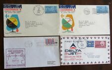 Usa Various flight covers Antarctic 1957 Japan 1st flt Delta jet & 747 nice x 6