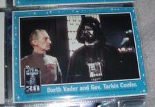 2007 Topps Star Wars 30th Anniversary Magnet Darth Vader and Gov. Tarkin confer