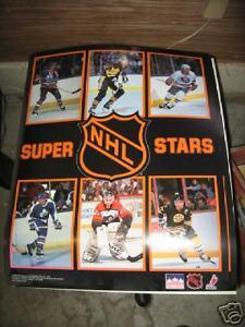 NHL Super Stars Poster, 1989