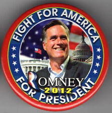 2012 MITT ROMNEY pin Campaign pinback 2.25 inch FIGHT for America