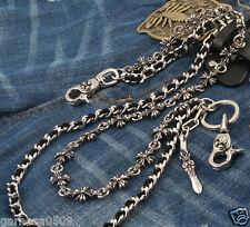 """Knife Pendant Combo EMO Biker Keychain Key Jean Wallet Chain CS62 (24.5"""") Silver"""