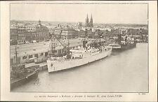 33 BORDEAUX IMAGE BATEAU NAVIRE BANANIER KOLENTE 1942 OLD PRINT