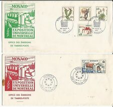 39. (2) MONACO 1967 Exposition Universelle De Montreal with Expo  cancellation