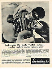 PUBLICITE ADVERTISING  1963    BEAULIEU    8mm automatic  caméra