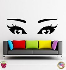 Wall Stickers Vinyl Decal Girl With Beautiful Eyes And Long Lashes (z1870)