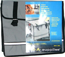 "BICYCLE DOUBLE PANNIER STYLE BAGS, REFLECTOR STRIPS, APPROX 15"" X 12"" X 5"" EACH"