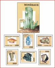 TOG9905 Minerals 6 stamps and block MNH TOGO 1999