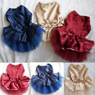 NEW PET DOG PUPPY / CAT / RABBIT BOW WEDDING LACE TUTU COSTUME DRESS UP OUTFIT