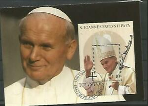 108322 / Prominente Maximumkarte BLOCK PAPST  Liechtenstein