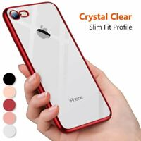 For Apple iPhone 8 7 Clear Crystal Silicone Soft TPU Gel Shockproof Case Cover