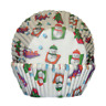 Christmas Snowman Baking Cups - Pack of 20 Xmas Patty Pans Cupcake Papers