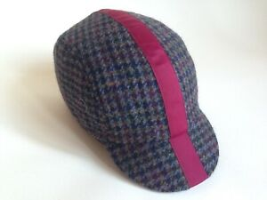 Harris Tweed Cap Size > XL  Hand Made By Smith-London CLASSIC Cycling Cap