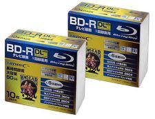 20 Hi-Disc Bluray 50 GB BD-R DL Printable Dual Layer 3D Blu Ray Disc NO LOGO tdk
