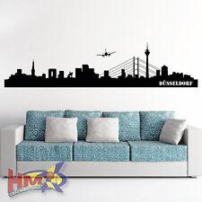 HM© Wandtattoo Düsseldorf Skyline bis zu einer Größe von 150 x 35cm WT-0089
