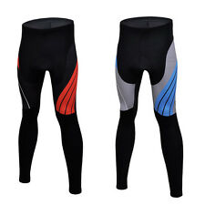 Winter Bicycle Pants Padded Cycling Tights Men's Cycle Long Pants Red/Blue S-5XL