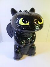"""Vintage Toothless Still Piggy Bank How To Train Your Dragon Ceramic 8.5"""" Tall"""