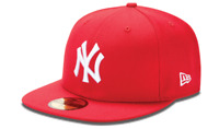 NEW ERA 59FIFTY FITTED HAT.  MLB.  NEW YORK YANKEES.  RED.