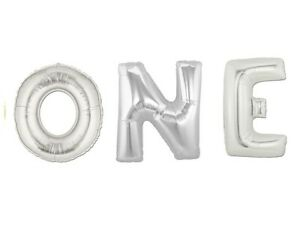 16 40 inch One First Birthday 1 Month Baby Shower Letter Floated Ballloons Decor