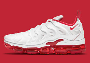 NEW Nike Air Vapormax Plus White University Red DH0279-100 Men's Sizes 10-12