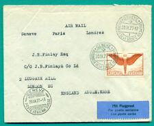 1927 SCHWEIZ SWITZERLAND GENÈVE ASSEMBLÉE DE LA SOCIÉTÉ DES NATIONS - LONDON AIR