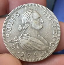 More details for spain/mexico - colonies - charles iv - 1795 silver 4 reales scarce fine coin