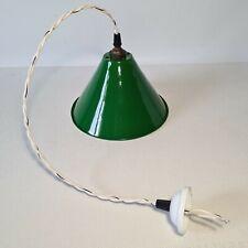 💡 ancienne lampe suspension en tôle