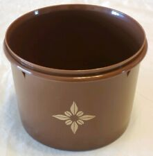 Vtg Tupperware 10 Cup Canister Storage Container Brown 265 Canister Only 70s